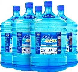 Доставка воды Аква чистая 5 бутылей по 19л.