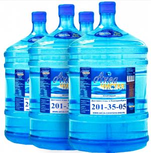 Доставка воды Аква чистая 4 бутыли по 19л.