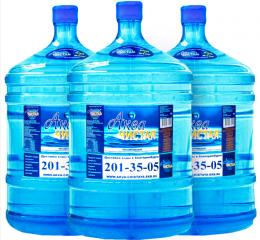 Доставка воды Аква чистая 3 бутыли по 19л.