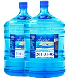 Доставка воды Аква чистая 2 бутыли по 19л.