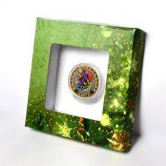 Подарочная коробка для 10р монеты с держателями. Вариант 1