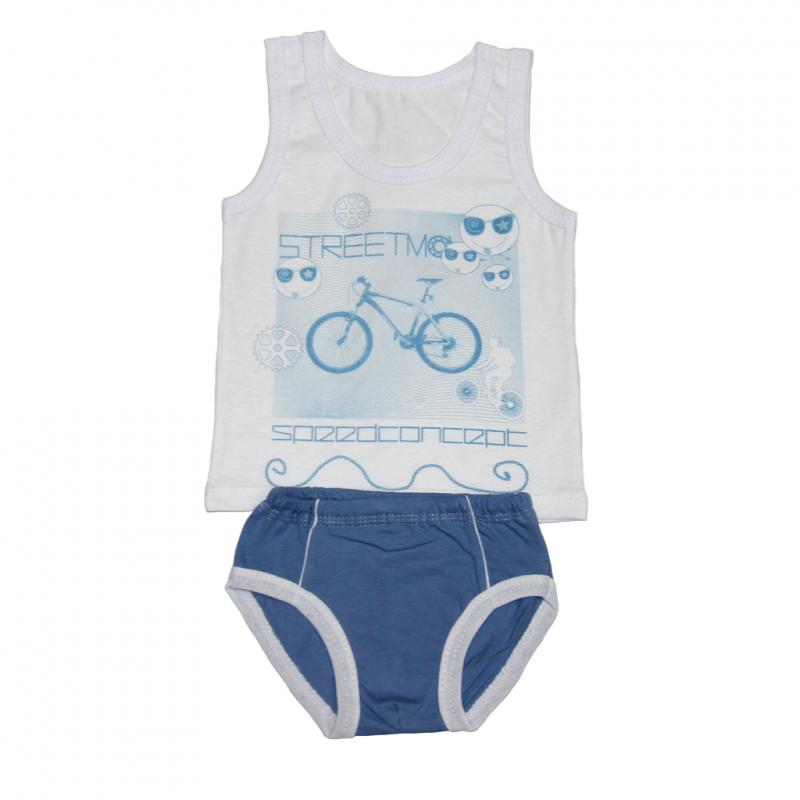 Комплект белья для мальчика 2 лет Велогонка