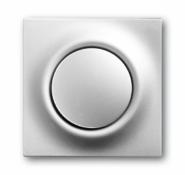 Клав. 1-ая с подсв. ABB BJE Impuls Серебро металлик