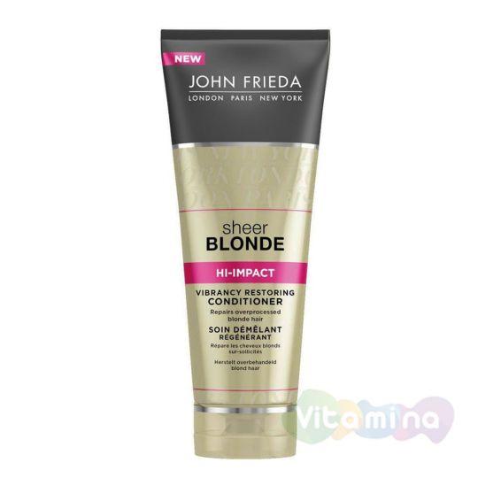 Восстанавливающий кондиционер для сильно поврежденных волос John Frieda Sheer Blonde Hi-Impact