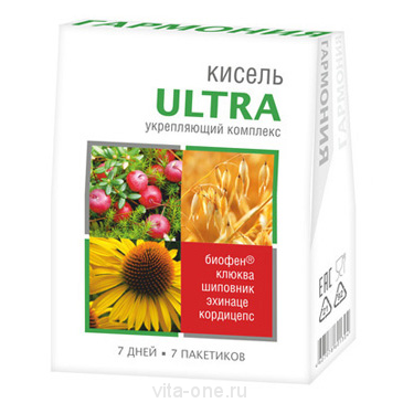 Кисель витаминизированный с Биофеном Гармония Ultra в пакетиках 140 гр