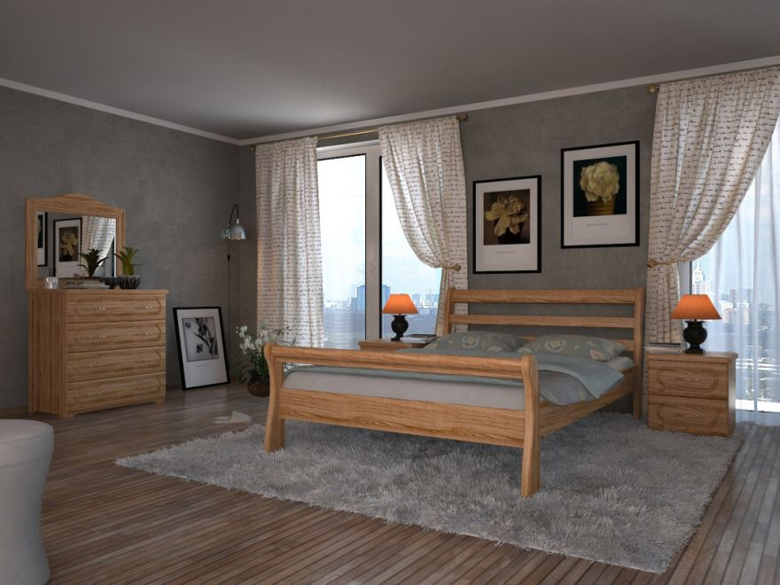 Кровать Милан (массив ясеня)   DreamLine