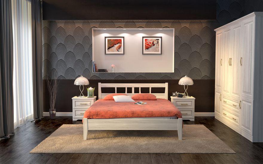 Кровать Лагуна 1 (массив ясеня) | DreamLine