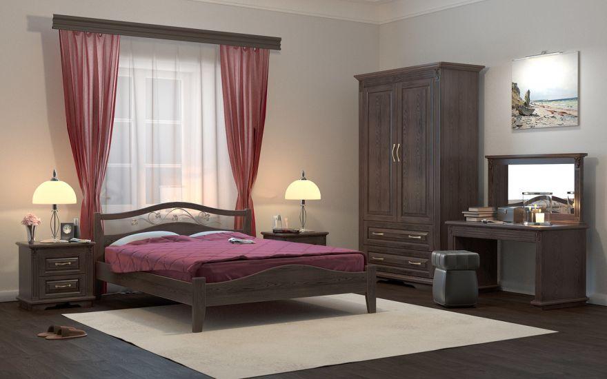 Кровать Верона 1 (массив ясеня) | DreamLine