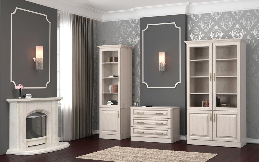 Шкаф библиотека Эдем 1-но створчатая (массив бука) | DreamLine