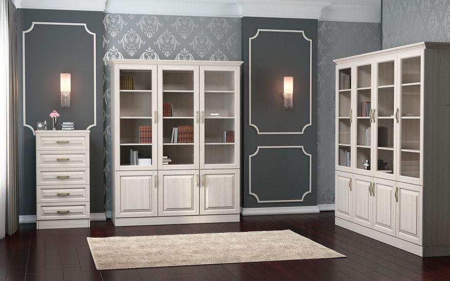 Шкаф библиотека Эдем 3-х створчатая (массив бука) | DreamLine
