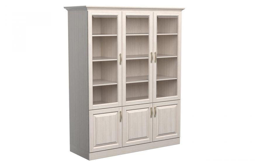Шкаф библиотека Эдем 3-х створчатая (массив ясеня) | DreamLine