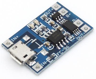 Зарядный модуль TP4056 для Li-Ion, Li-Po аккумулятора (micro-USB, type-C)