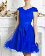 Синее платье для танцев
