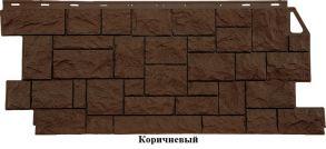 """Панель """"Камень дикий"""" 1117*452 (0,42м2) ( Песочный , Коричневый , Мелованный белый )"""