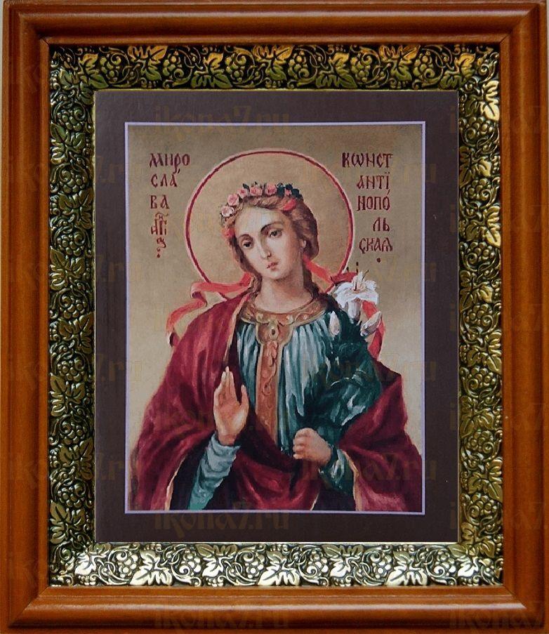 Мирослава Константинопольская (19х22), светлый киот