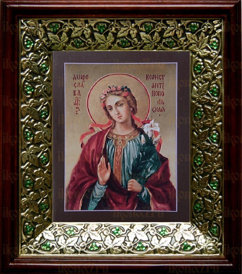 Мирослава Константинопольская (21х24), киот со стразами