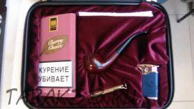 Набор с трубкой в сумку (трубка LORENZO, бриар, табак МБ, зажигалка, нож, ерши)