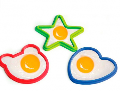 Силиконовые формы для яичницы или омлета Веселый завтрак 3шт