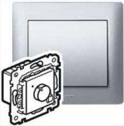 Термостат с дисплеем PLC Galea Life Алюминий (арт.771394)