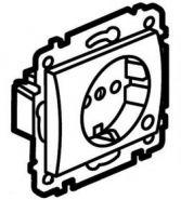 Силовая розетка 2К+3 с лицевой панелью  Aluminium/Алюминий (арт.771362)