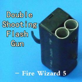 Ручная пушка с ДВУМЯ ЗАЛПАМИ Double Shooting Flash Gun