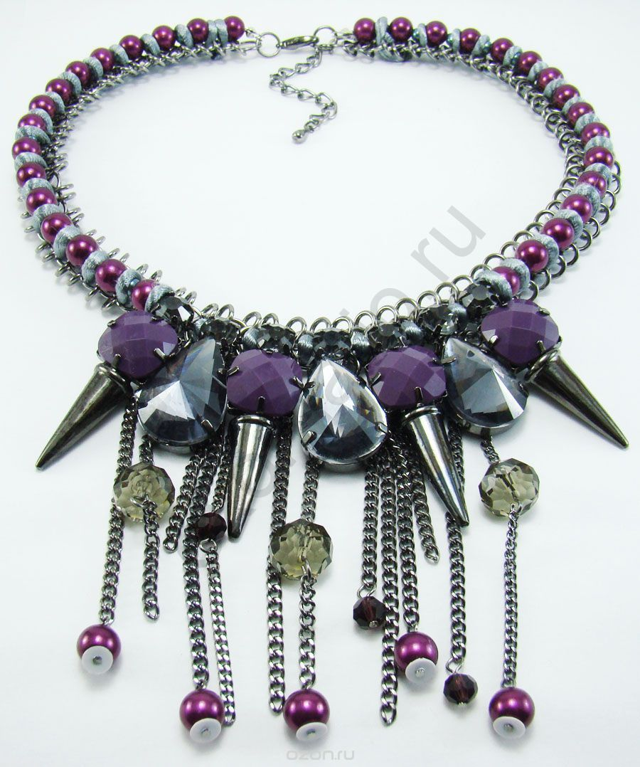 Колье Taya LX. T-B-8093-NECK-Purple