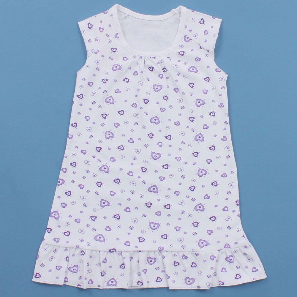 Сорочка для девочки Сердечки