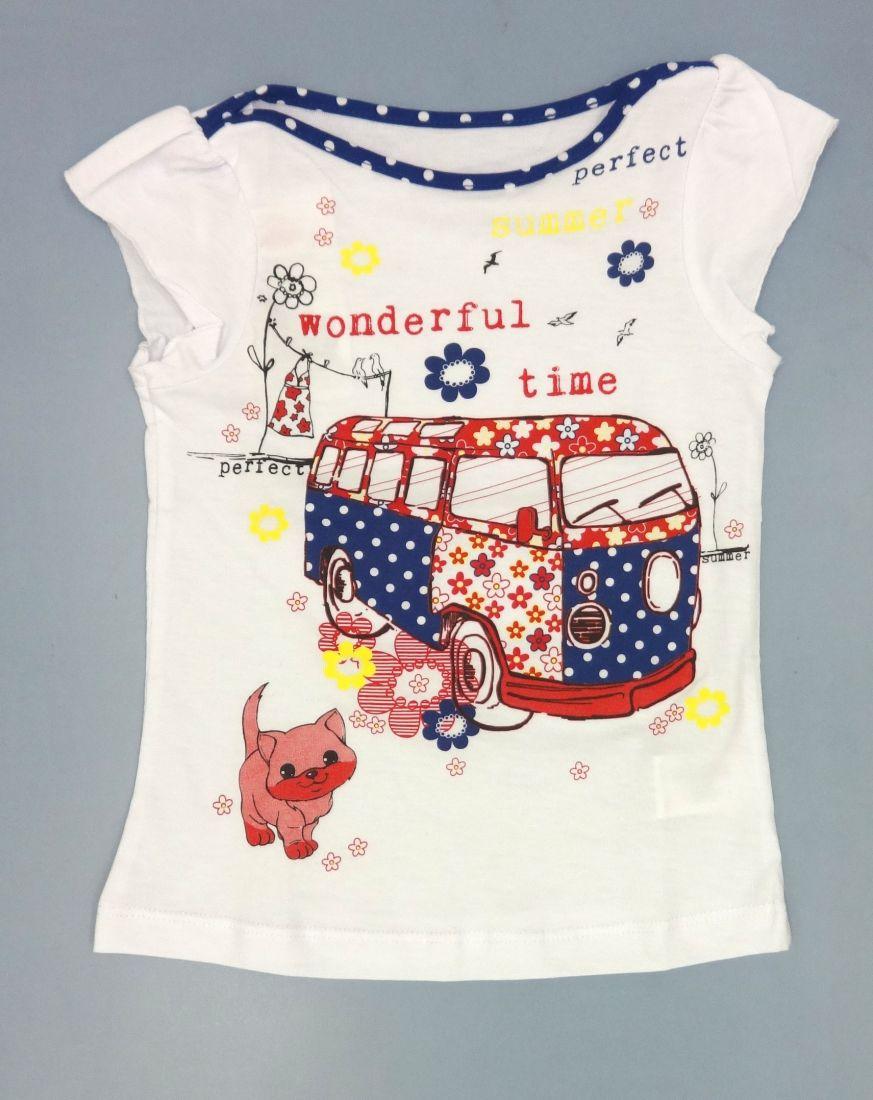 Белая блузка для девочки Wonderful time