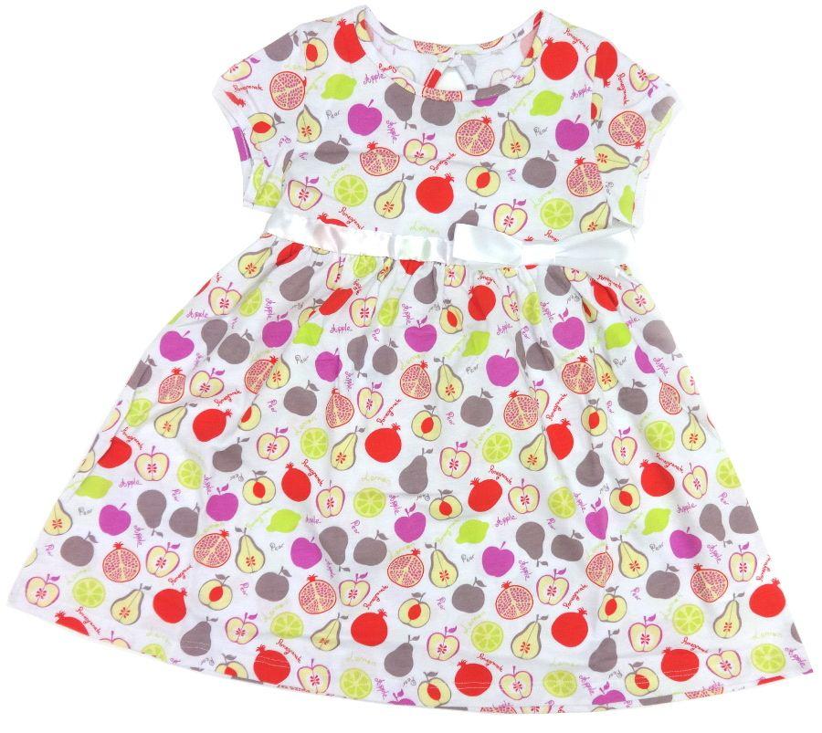 Платье для девочки 4 лет Фрукты