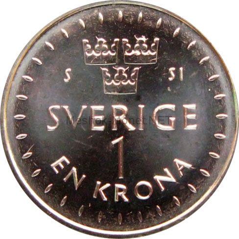 Швеция 1 крона 2016 г.