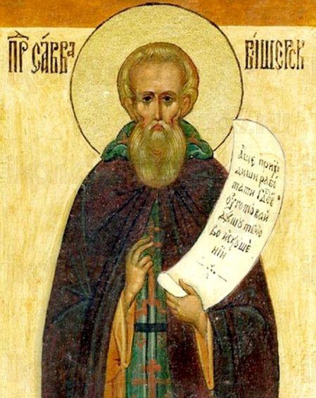 Савва Вишерский (рукописная икона)