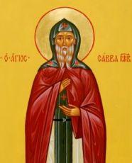 Икона Савва Московский (рукописная)