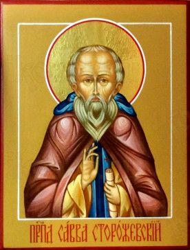 Савва Сторожевский (рукописная икона)