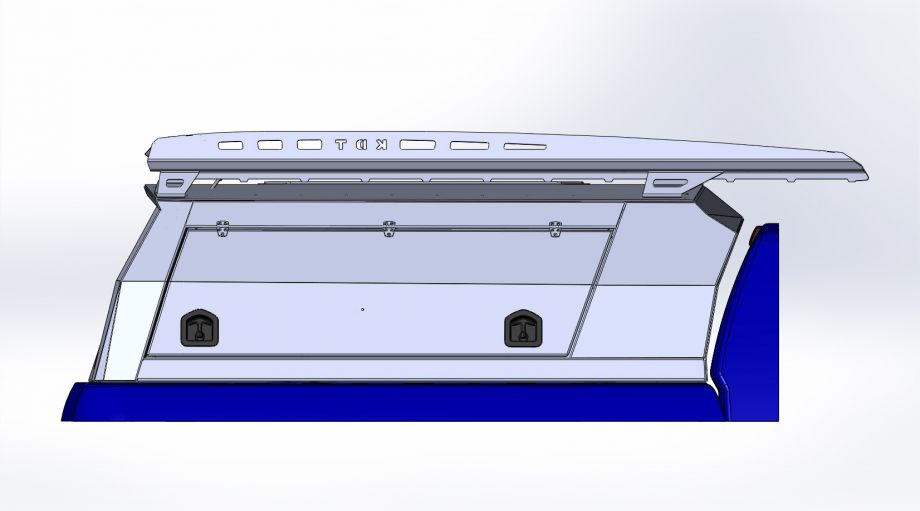 Кунг увеличенный трехдверный Double Cab Long Bed