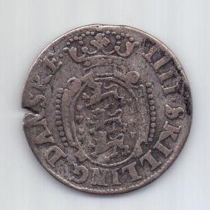 4 скилинга 1693 г. Глюкштадт. Дания