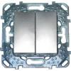 Двухклавишный выкл. Unica Top цвет Алюминий