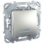 Диммер нажимной Unica Top 20-350VA для любого типа нагрузки цвет Алюминий