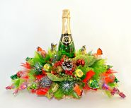 """Новогодняя композиция из конфет №656 """"Подарок от Деда Мороза"""""""