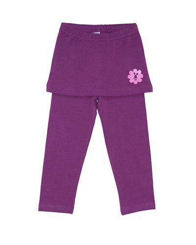 Лосины с юбкой для девочки Фиолет