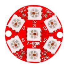 Светодиодное кольцо - WS2812 7bit RGB, 7 светодиодов