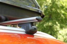 Багажник на штатные рейлинги крыши, Atlant, аэродуги