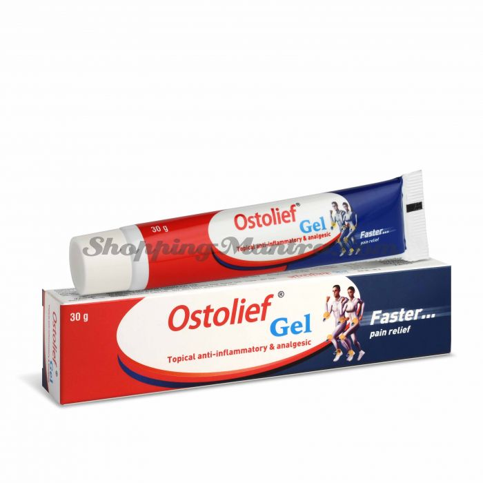 Противовоспалительный гель для мышц и суставов Остолиф Чарак Фарма | Charak Pharma Ostolief Gel