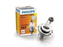 Лампа автомобильная Philips Vision Premium, H4, 12 В, 60/55 Вт