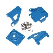 Кронштейн ABS для двух сервоприводов, цвет синий