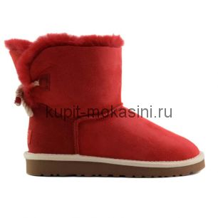 Mini Bailey Bow Selene Red - Угги мини с бантиком Selene Красные