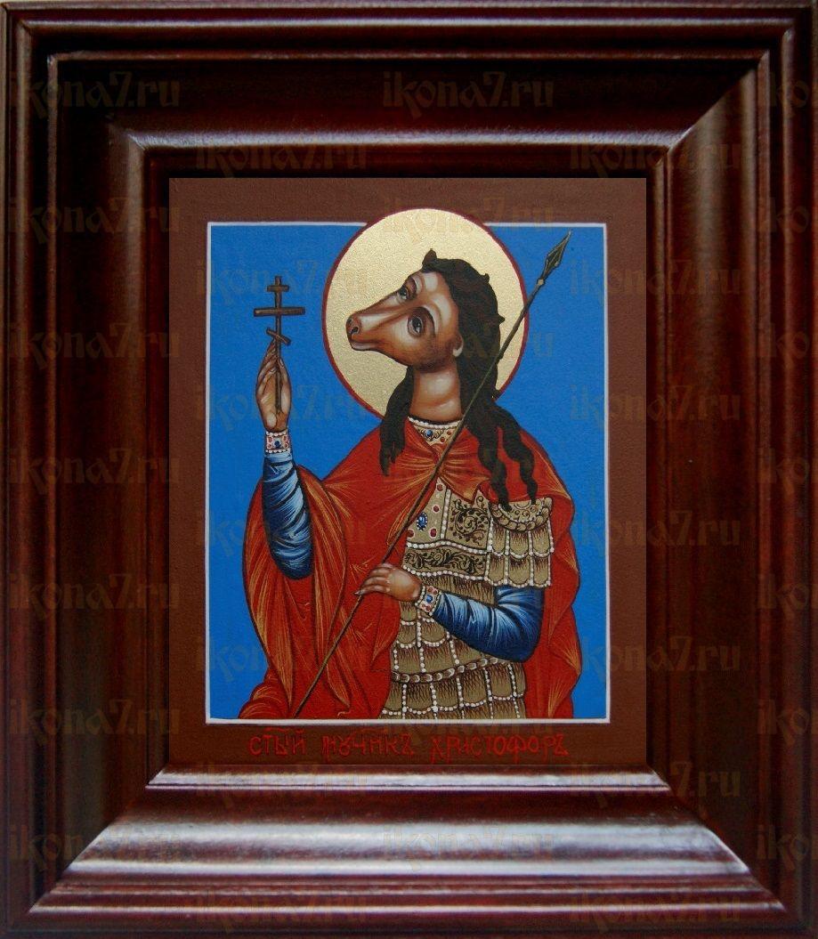 Христофор Псеглавец (21х24), простой киот