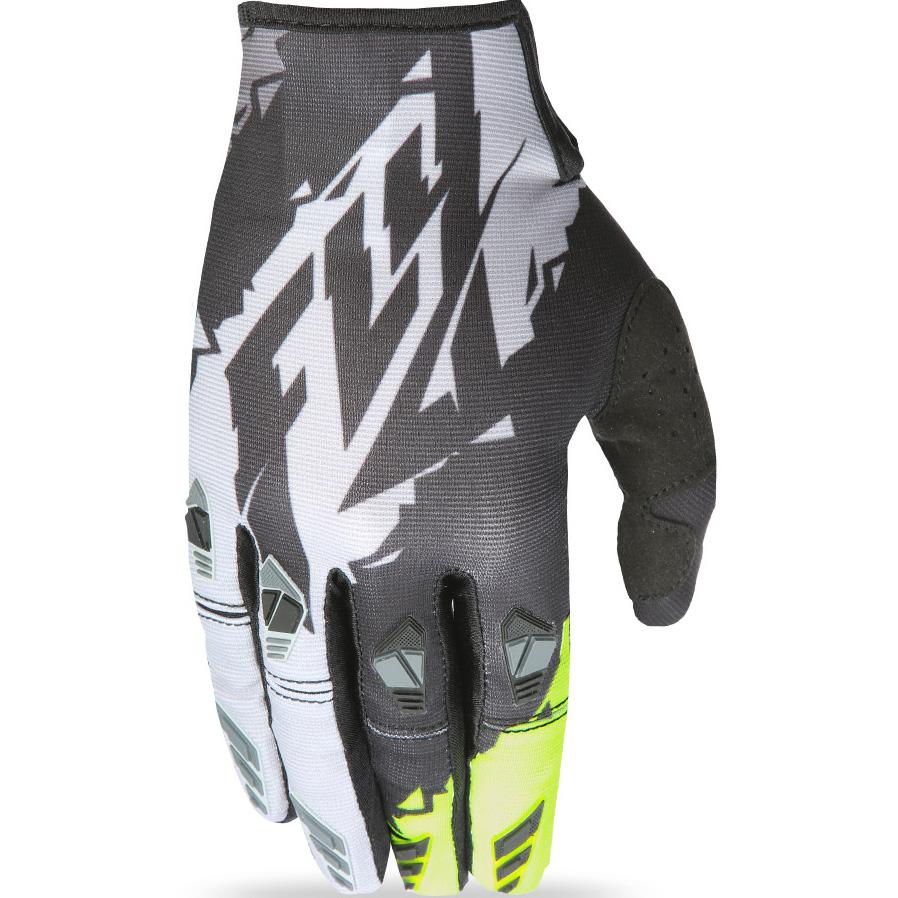 FLY - 2017 Kinetic перчатки, черные-HI-VIS