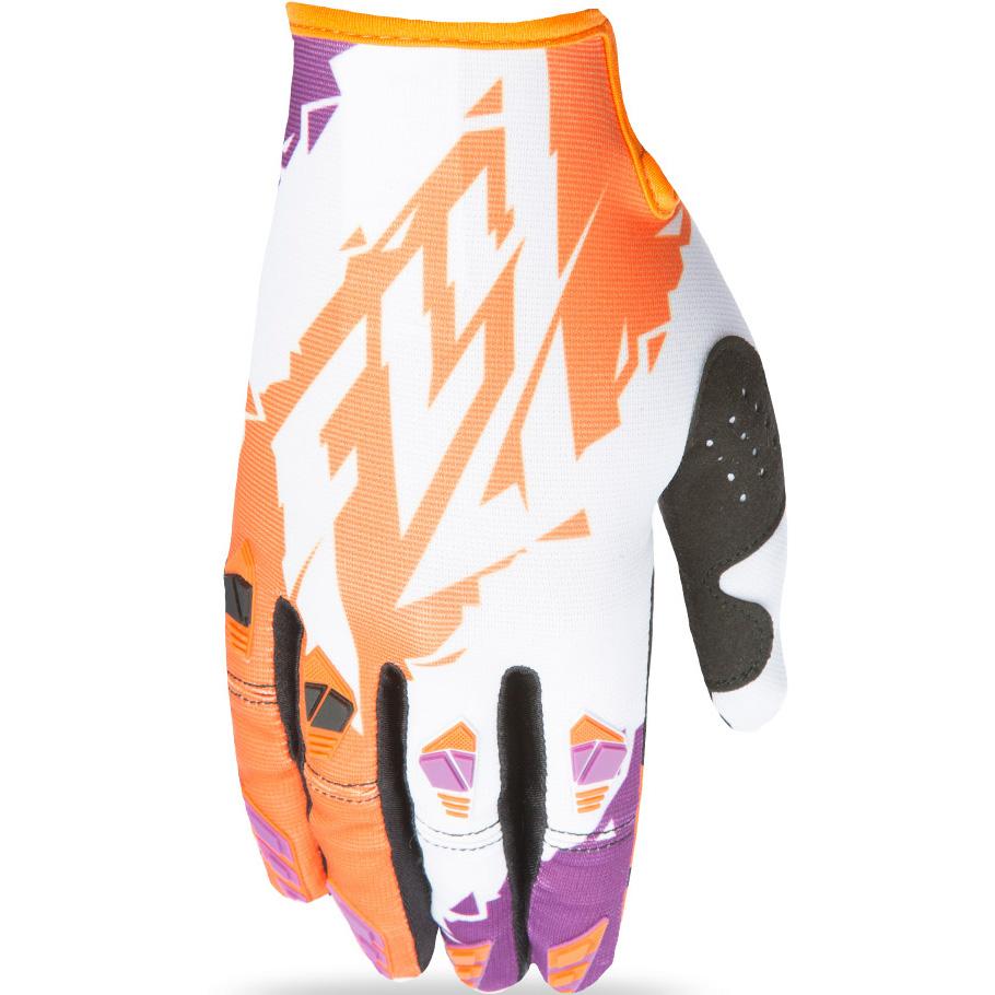 FLY - 2017 Kinetic перчатки, оранжево-белые