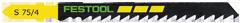 Пилки для лобзика, компл. из 100 шт. S 75/4 Festool
