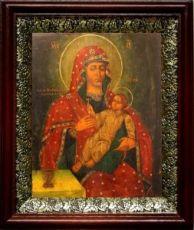 Козельщанская икона БМ (19х22), темный киот